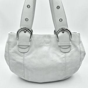 Rare Courreges White Leather Bag EUC